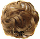 Curly Messy Bun Hair Piece Scrunchie Updo Cover Hair Extensions Real as human