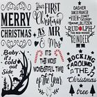 Christmas Wine Bottle Stickers Vinyl Decal Silhouette Festive Arts & Craft Card