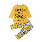 FixedPrice2pcs toddler kids baby girl summer clothes t-shirt tops+floral pants outfits set