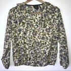 W5 Anthro Anthropologie Floral Long Sleeve Peasant Blouse Women's Size Medium