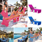 Extra Large Sun Lounger Mate Beach Microfibre Towel With Pockets Bag Outdoor 2m