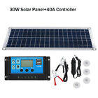 Flexible 12V 30W Dual USB Solar Panel Battery Charger Kit Car + Controller
