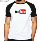 Cool Teenage Youth Short Sleeve Tshirt Men Clothes Youtube Logo Print Cotton