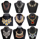 Fashion Women Pendant Crystal Choker Chunky Statement Chain Bib Necklace Jewelry image