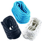 20' 5/8'' Reflective Double Braid Nylon Dock Line Mooring Rope Black/White/Blue