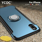 Round-edge Intergrated TPU PC Metal Ring Case For iPhone 7 8 Plus X XS Max XR 6
