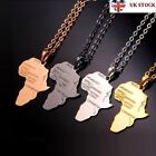 Africa Necklace Pendant African Continent Gold Silver Colour Chain Jewellery New