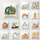 NEW Fall Halloween Pumpkin Pillow Case Waist Throw Cushion Cover Sofa Home Decor image