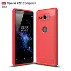 For Sony Xperia XZ 3 2 1 Premium Compact Shockproof Armor Carbon Fiber Case