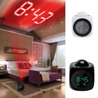 LCD Display Projection Alarm Clock Digital Desktop Voice Talking LED Projector