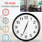 10'' Silent Non-ticking Wall Clock Quartz Round Clock for Office Kitchen Simple