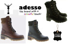 ADESSO TARA LADIES SOFT LEATHER LACE ZIP 3/4 MILITARY BOOTS NEW WINTER WOMENS