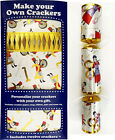 Set of 12 Flat Pack Make Your Own Christmas Crackers - assorted designs