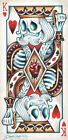 Suicide King by Dave Sanchez Hearts Sugar Skull Playing Cards Canvas Art Print