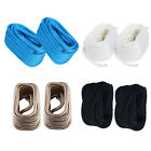 """Pair Double Braid Nylon Dock Line Mooring Rope 3/4 in 50 ft with Spliced 12"""" Eye"""