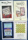 3 Lot Holiday,Christmas Tress,Sleds Samplers,Wall Hanging,Table Matt,Coasters