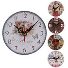 Vintage Style Non-Ticking Silent Antique Wood Wall Clock Home Kitchen OfficeCA