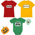 Ketchup Mustard Sweet Relish Family Matching Halloween Costume Mom Dad Baby