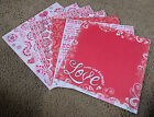 Best Creation 12x12 Glitter Scrapbook Paper Sweet Love Valentine Valentine's