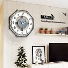 Nordic Style Silent Wall Hanging Clock Boards Display 35cm Living Room Decor