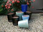 Outdoor Frostproof Ceramic Glazed Plant Pots Various Sizes & Colours New Unused