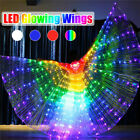 LED Isis Wings Glow Light Up Clothes Belly Dance Costume Stick Performance Prop