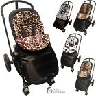 Animal Print Padded Pushchair Footmuff / Cosy Toes Compatible with Uppababy