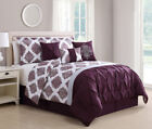 7 Piece Daria Wine/Gray Reversible Comforter Set image