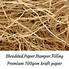 Shredded Kraft Paper Brown Natural Hamper Fill Packaging Gift Box MULTI WEIGHTS