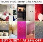 Chunky Glitter Wallpaper 3d Grade 3 Fabric Bling Silver Black Gold Sold By Meter