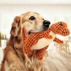 Funny New Pet Dog Sound Toy Tough Dinosaur Puppy Chew Knot Play Squeaky Plush TN