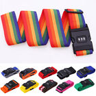 Travel Password Luggage Suitcase Strap Baggage Backpack Bag Rainbow Safe Belt
