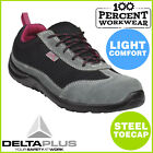 Lightweight Comfortable Ladies Womens Safety Work Trainers Shoes Steel Toe Cap