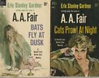 E766 Lot Of 2 A. A. Fair Erie S.  Gardner Dell  Vinyage Mystery Paperback Books