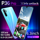 """P36pro Smartphone Android 9.1 6gb+128gb 6.3"""" Mobile Dual Sim Mobile Smart Phone"""
