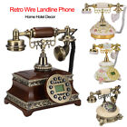 Retro Telephone Corded Phone Landline Fashion Antique Dial Phone for Home Hotel