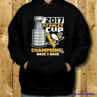 NEW PITTSBURGH PENGUINS 2017 STANLEY CUP CHAMPIONS HOODIE FASHION USA SIZE BLACK $42.92 USD on eBay