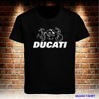 NEW BLACK T SHIRT DUCATI MOTORBIKE RACING MEN'S TSHIRT S TO 3XL USA SIZE