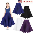 US Girls Liturgical Praise Dance Dress Spirit Praise Loose Fit Long Maxi Skirt