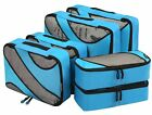 6 Set Packing Cubes 3 Various Sizes Travel Luggage Packing Organizers Durable