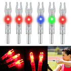 12/6PC Automatic LED Shooting Archery Arrows Lighted Nocks 6.2mm Arrow Nock Tail
