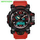 Men's Military Fashion Sport Digital Quartz Big Face Date Wrist Analog Watch US image