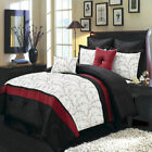 Luxury Embroidered Atlantis Comforter Set Bed In A Bag 6-8-Piece Ivory & Black image