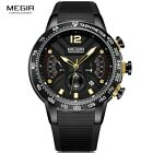 Men's Army Sport Quartz Watches Silicone Band Chronograph WORKING SUB DIAL NEW image