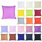 Home Decor Cotton Soft Pure Color Throw Pillow Cover Sofa  Cushion Case  image