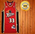 New Grant Hill Throwback Jersey Detroit Pistons Red Mens Size S XXL