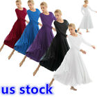 Women Liturgical Praise Lyrical Dance Dress Christian Worship Ballroom Costume