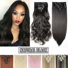 AU 8 Pieces Clip In Hair Extensions Full Head Natural As Human Real