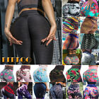 Womens High Waist Yoga Pants Printed Butt Lift Sexy Workout Gym Fitness Leggings