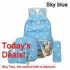 4x Women Canvas Backpack Travel Bookbags School Bags for Teenage Girls Xmas Gift
